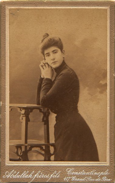 Untitled (Studio portrait of a young woman)