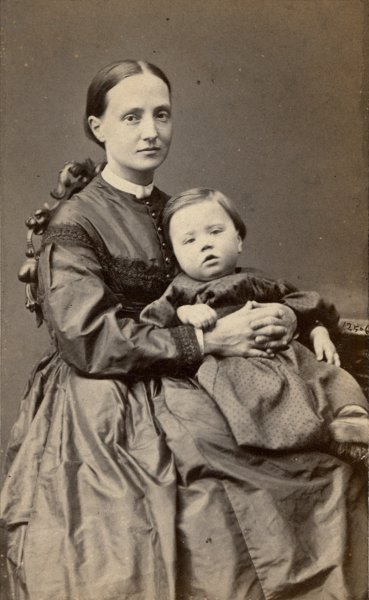 Untitled (studio portrait of mother and child)
