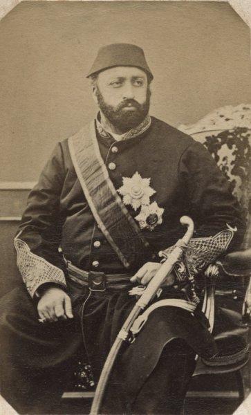 Portrait of Sultan Abdul Aziz