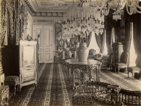 Untitled (Interior view of one of Dolmabahce palace's rooms)