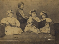Untitled (studio portrait of a group of Ottoman upper-class children)