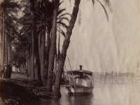 Boat station on the Nile