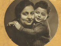 Untitled (studio portrait of mother and her son)