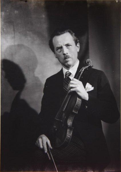 Untitled (portrait of a violinist, Belgium)