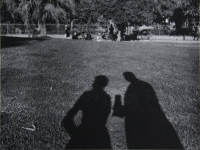 Untitled (shadow self-portrait with a camera and a female companion)