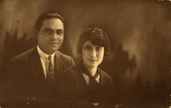 Portrait of a young Armenian couple