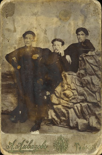 Untitled (studio portrait of three men)