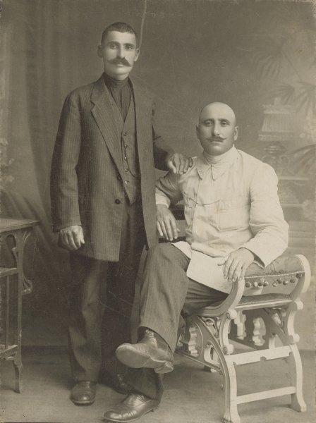Untitled (portrait of two men)
