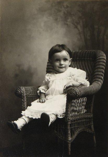 Toddler in an armchar