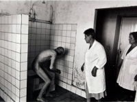 Bathing at the Vardenis mental institution. From the series 'Vardenis mental institution'