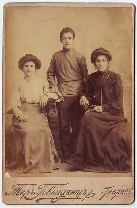 untitled (studio photograph of a Tiflis family)