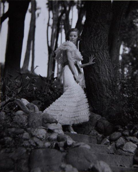 Portrait of Margaret Sullavan in Busch Gardens, Pasadena