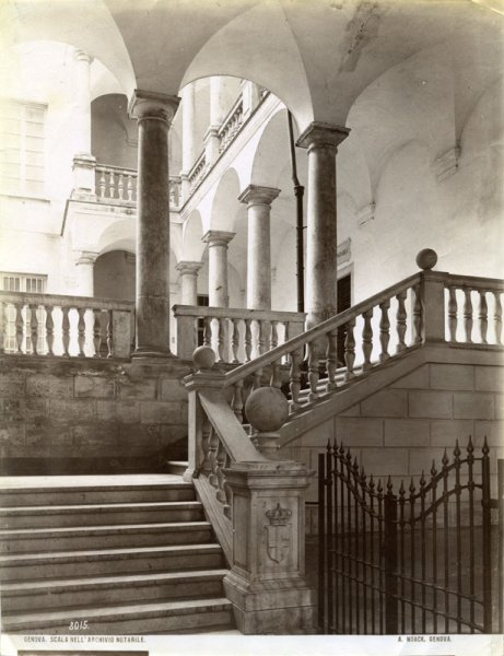 Genova. Stairs of the Notarial archive