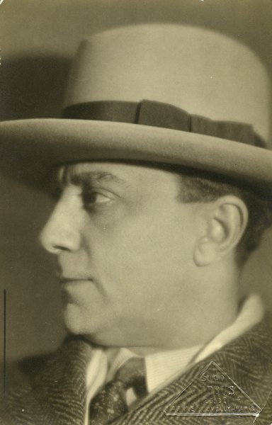 Portrait of Armenian actor Vahram Papazyan