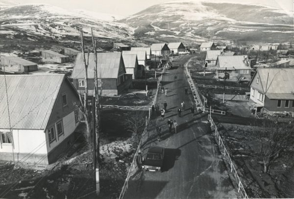 Construction in Armenia. The newly-built houses in the Hnkoyan village