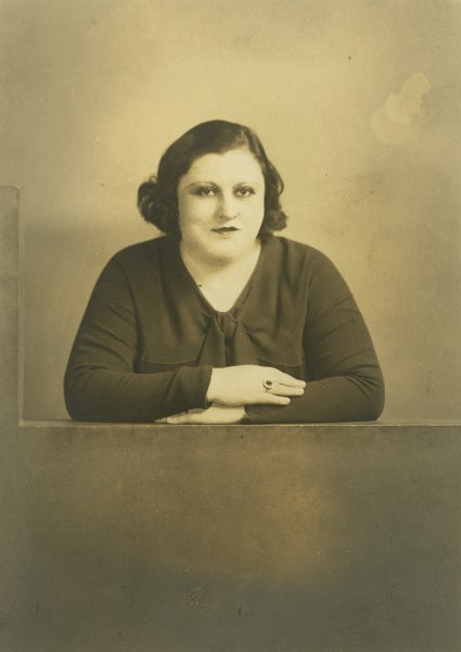 Untitled (studio portrait of a woman)