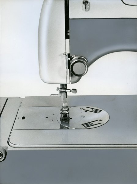 Untitled (product photograph of an automated sewing machine)