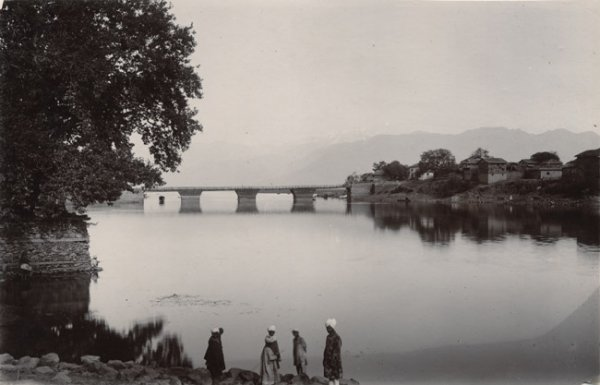 Sopur bridge and post office, India