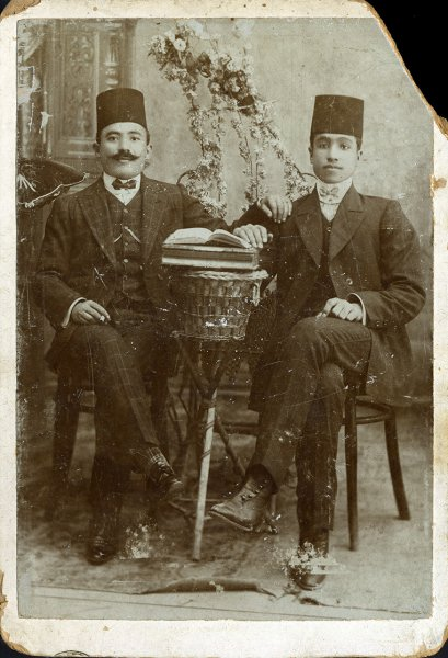 Untitled (Studio portrait of two Arab gentlemen)