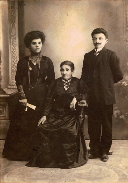 Armenian family studio portrait