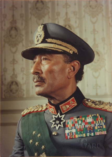 Portrait of president A. Sadat